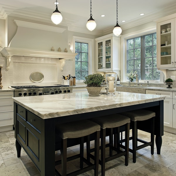 which store to purchase quartz counter tops that go with hickory cabinets